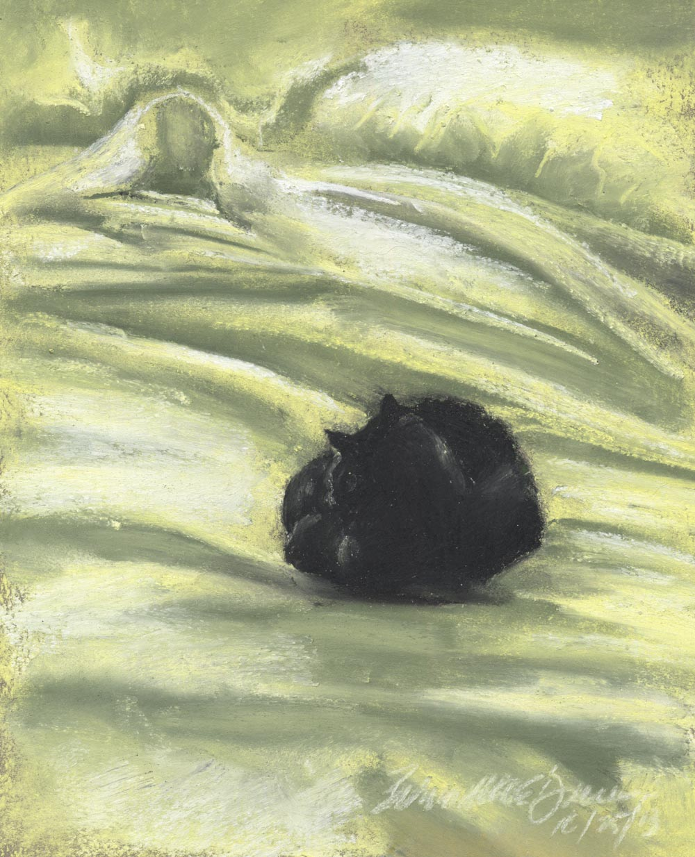 Daily Sketch Reprise: Autumn Afternoon Bed