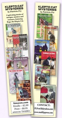 Bookmarks for Patricia L. Fry's books.
