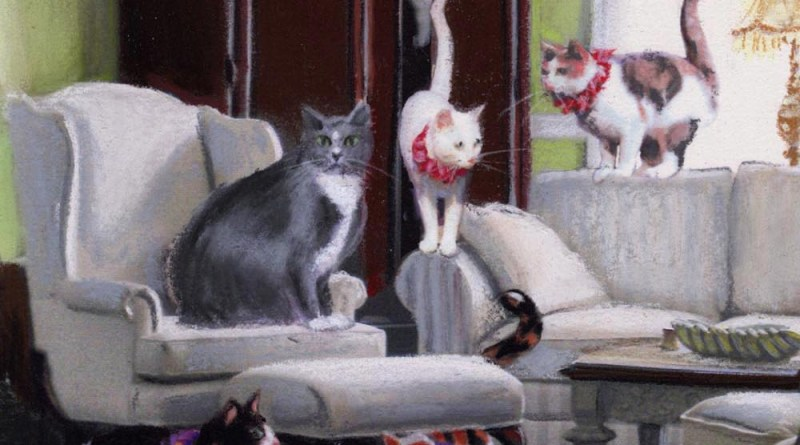 """Featured Artwork: Klepto Cat Book Cover No. 37, """"Cats and Caboodle"""""""