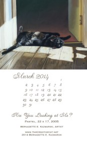 """Are You Looking At Me?"" desktop calendar for Cell Phones and Smartphones."