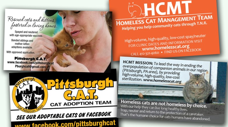Business cards for HCMT and Pittsburgh CAT.