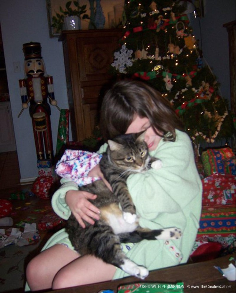 Cassidy and Baby at Christmas.