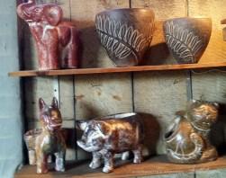 Animal ceramics.
