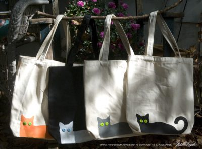 Bella and Her Foster Friends Tote Bags