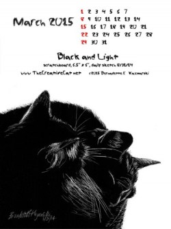 """""""Black and Light"""" desktop calendar, for 600 x 800 for iPad, Kindle and other readers"""