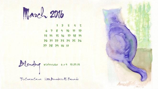 """""""Blending"""" desktop calendar 2560 x 1440 for HD and wide screens."""