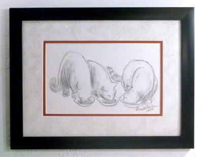 Dinnertime!, framed.