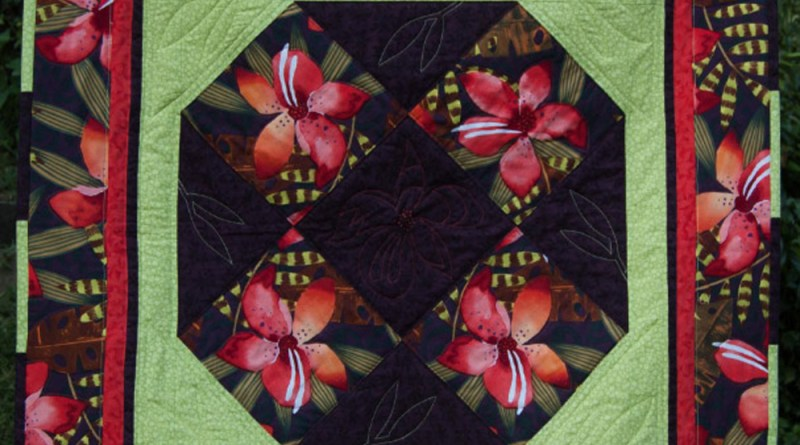"""Lilies"", a handmade quit by Norma Clouse to benefit FosterCat."