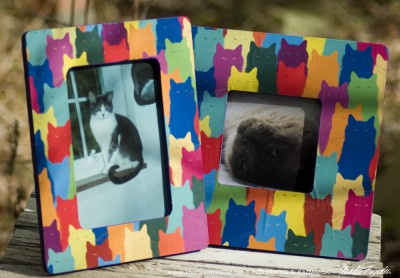 """""""Inscrutable Patterns"""" photo frames."""