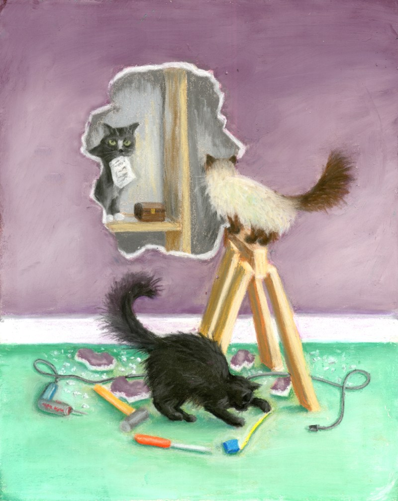 """Cover design for """"Sleight of Paw"""" by Patricia Fry."""