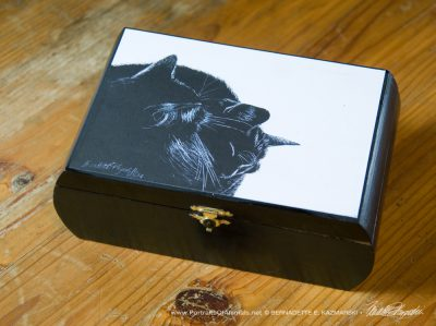 """Black and Light"" Repurposed Cigar Box Keepsake."