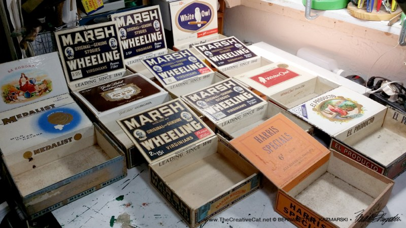 The cigar boxes.