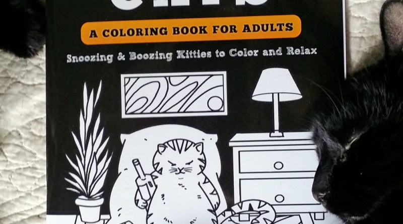 """Lazy-Ass Cats"" coloring book."