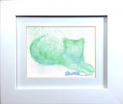 """""""Leaves and Shadows"""" matted and framed."""
