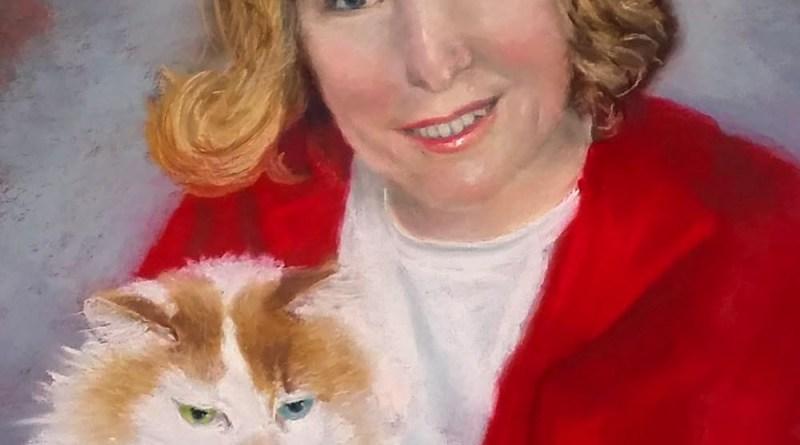 """""""Marsha and Scruffy"""", pastel, 13"""" x 17"""" © Bernadette E. Kazmarski"""