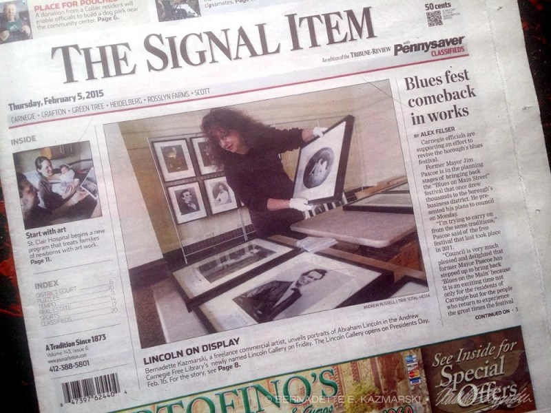 Me on the front page of my local newspaper.