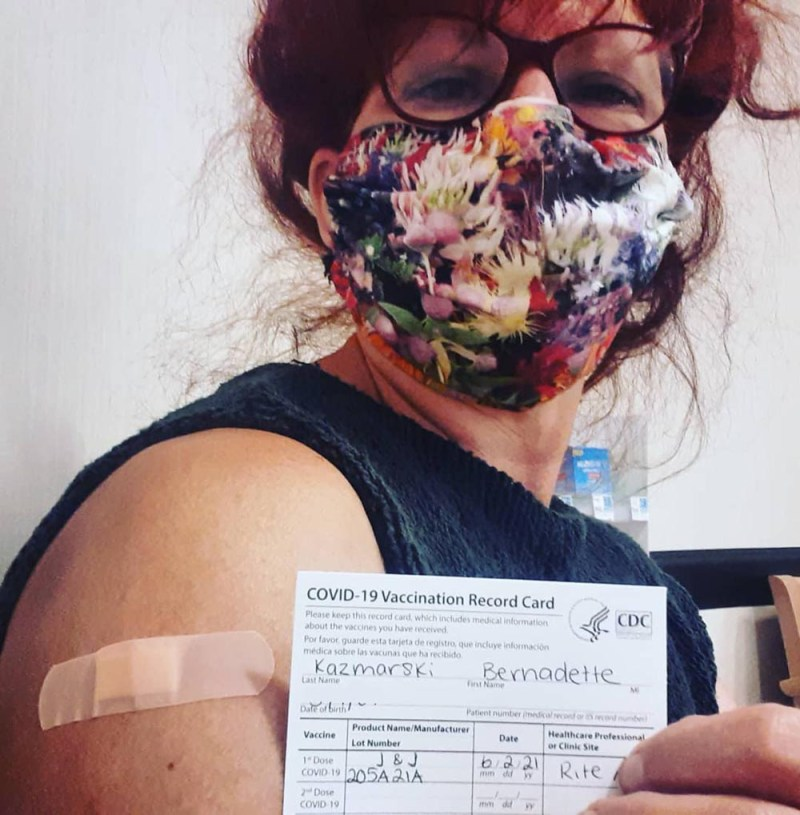 me with vaccine card