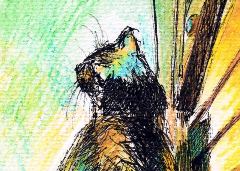 "Detail of my favorite parts of ""Mimi's Sunbath""."