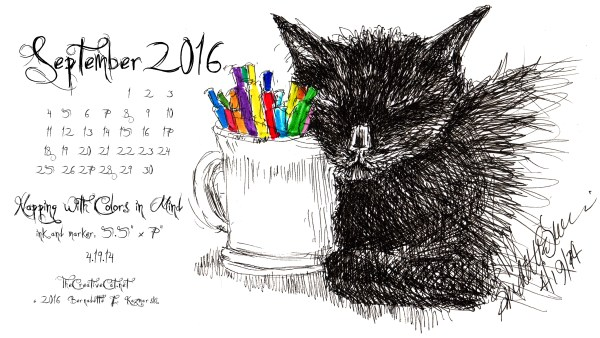 """Napping With Colors in Mind"" desktop calendar 2560 x 1440 for HD and wide screens."