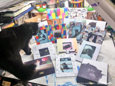 Basil inspects all the new goods.