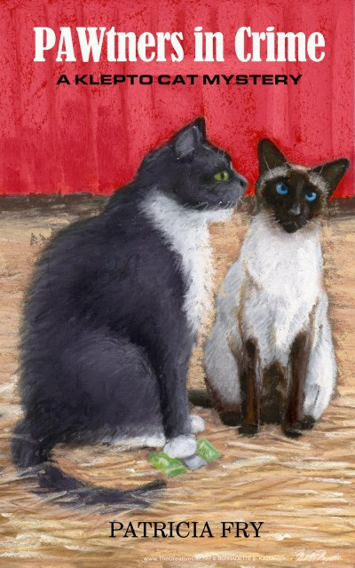 "The final cover for ""PAWtners in Crime"" by Patricia Fry."