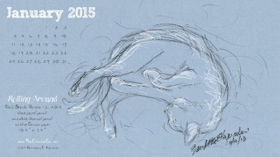 """""""Rolling Around"""" desktop calendar 2560 x 1440 for HD and wide screens."""