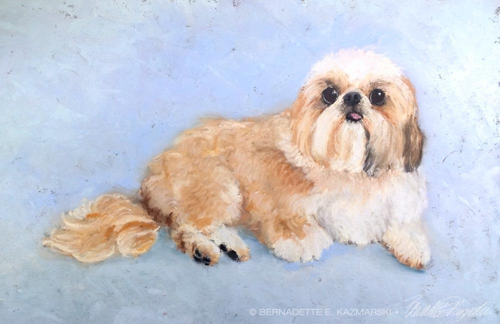 pastel portrait of shi tzu