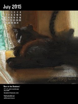 """Here in the Shadows"" desktop calendar, for 600 x 800 for iPad, Kindle and other readers."