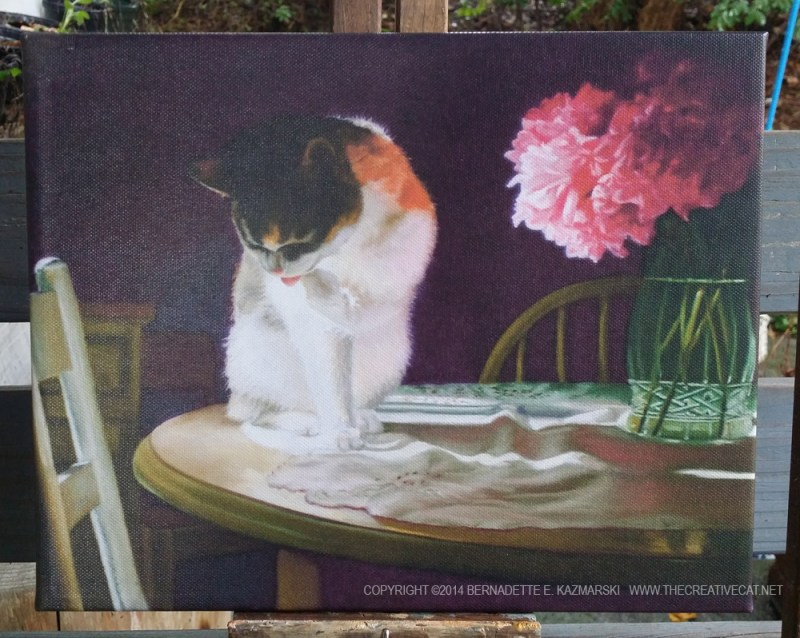 """""""Peaches and Peonies"""" canvas print."""