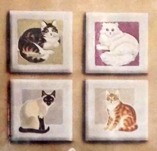 decorative cat tiles