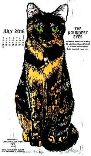 """The Roundest Eyes"" desktop calendar, for 400 x 712 for mobile phones."