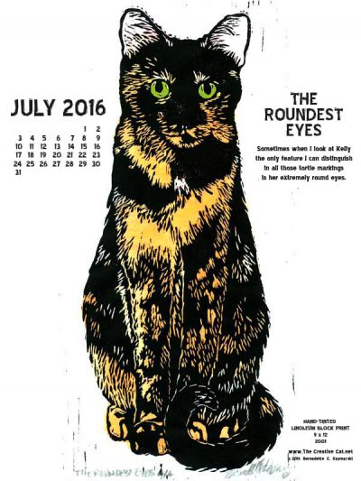 """The Roundest Eyes"" desktop calendar, 600 x 800 for iPad, Kindle and other readers."