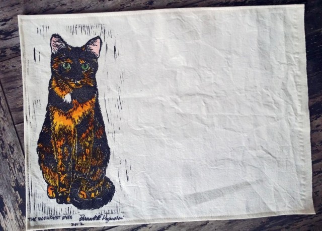 Tortie Girls placemats, The Roundest Eyes.