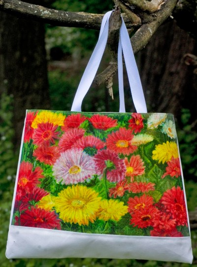 Greenhouse Gerberas tote bag