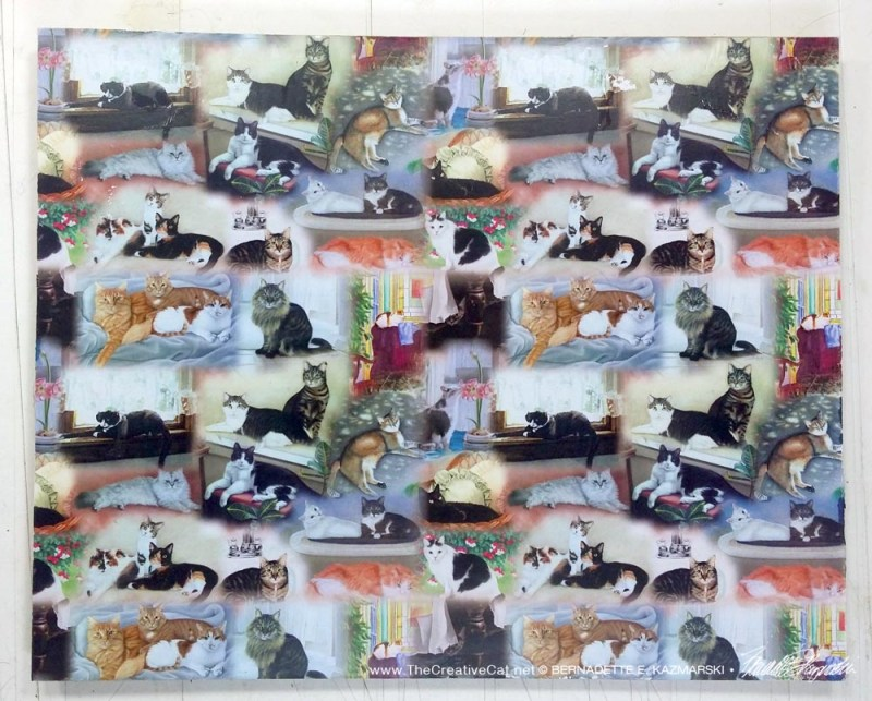 """22 Cats"" hot pad/trivet."