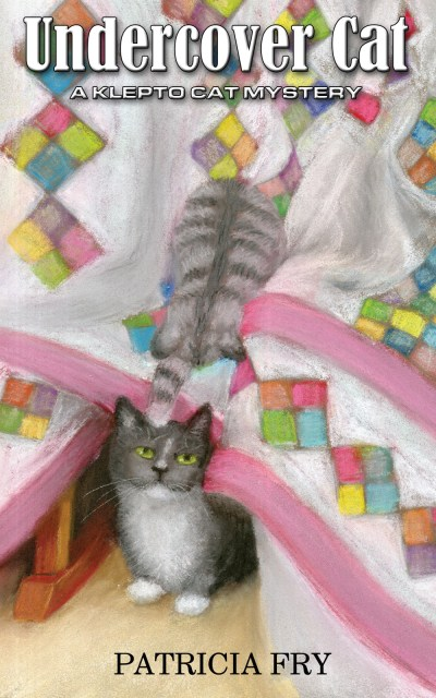 book cover design with cats and quilt undercover cat patricia fry