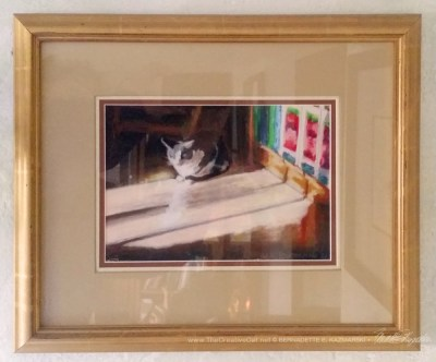 """Warm Winter Sun"" framed."
