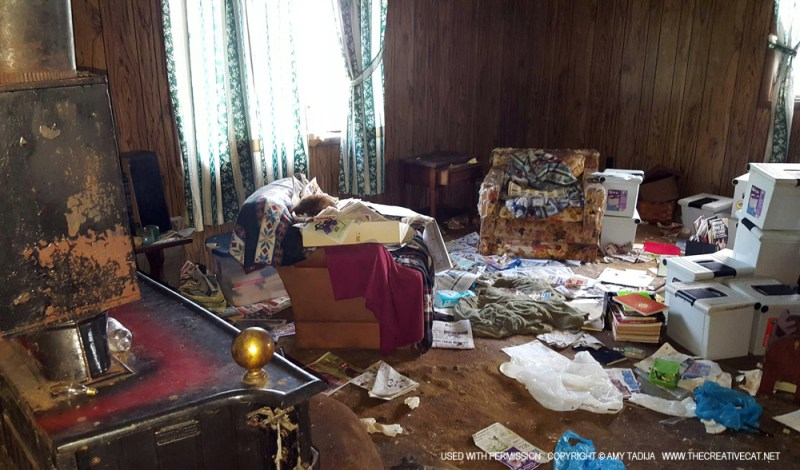 The hoarder's house.