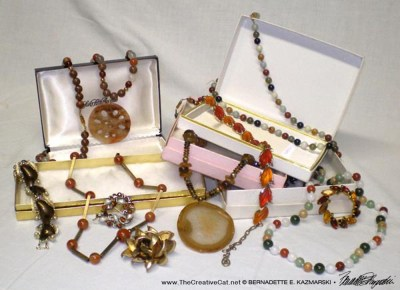 A selection of jewelry.