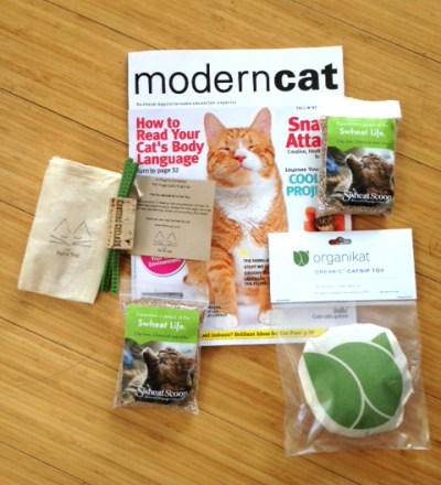 Gift package donated to FosterCat from Organikat's LA Feline Film Festival.