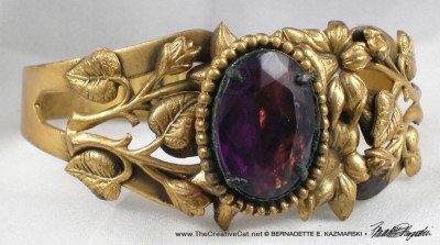 A purple bracelet.