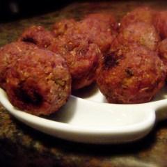 Raspberry Chipotle Meatballs