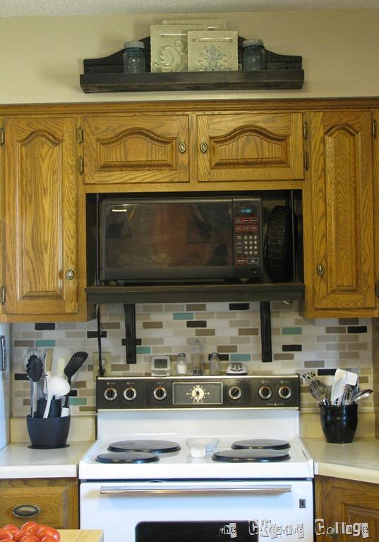 faux stove hood look sort of welcome
