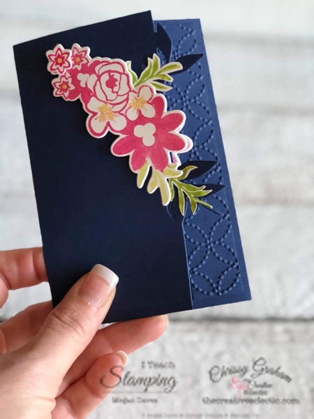 I love my job because it allows me to create with... Look what my friend Megan & I made together using the Bouquet Blooms Bundle. #inspirecreateshare #lovemyjob #stampinup #iteachstamping #TCE #thecreativeeclectic #handmadecards