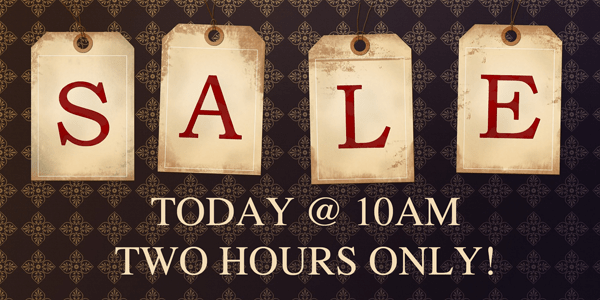 Don't miss our Pop- Up! Sale today