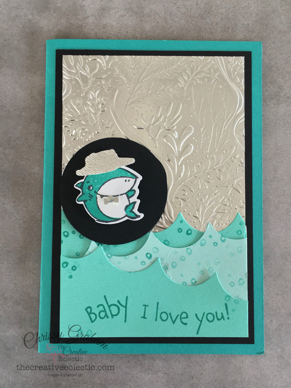 Say I love you with the Shark Frenzy Bundle - it's is so versatile - here's an a little card I created with the bundle #sharkWeek #babyshark #sharkfrenzy #stampinup #handmadecards #cardmaking #papercraft #iloveyoucards #valentinescard #makeacardSendacard #ChrissyGraham #stampinup #thecreativeEclectic