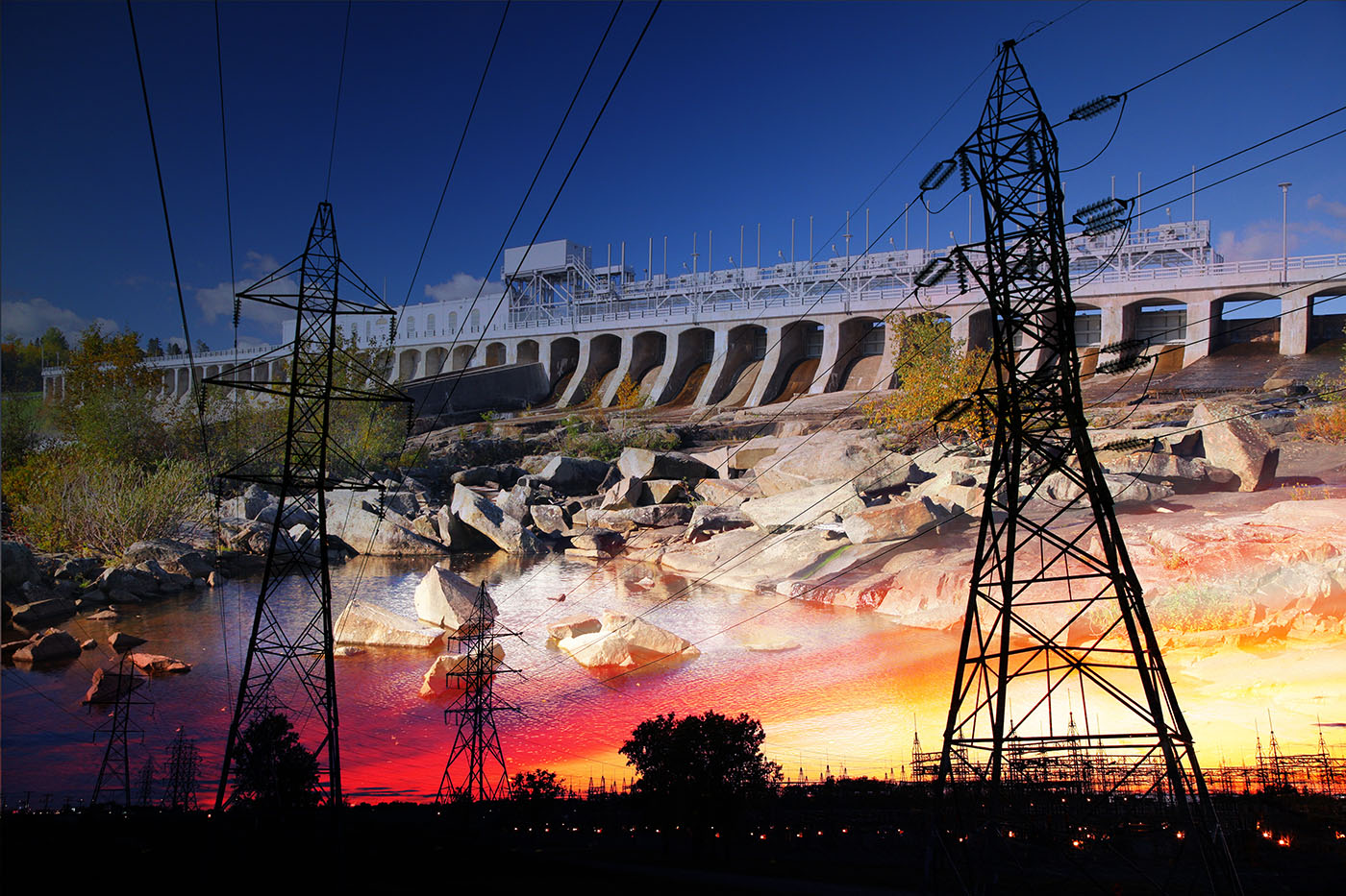 Electric Dam 03 - Stock Photo