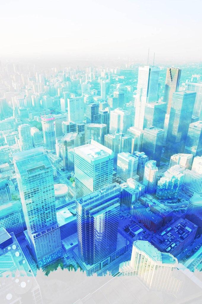 Urban Vertical Cityscape - Stock Photo