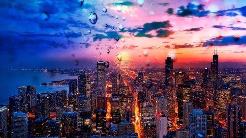 Beautiful Chicago City at Night 02