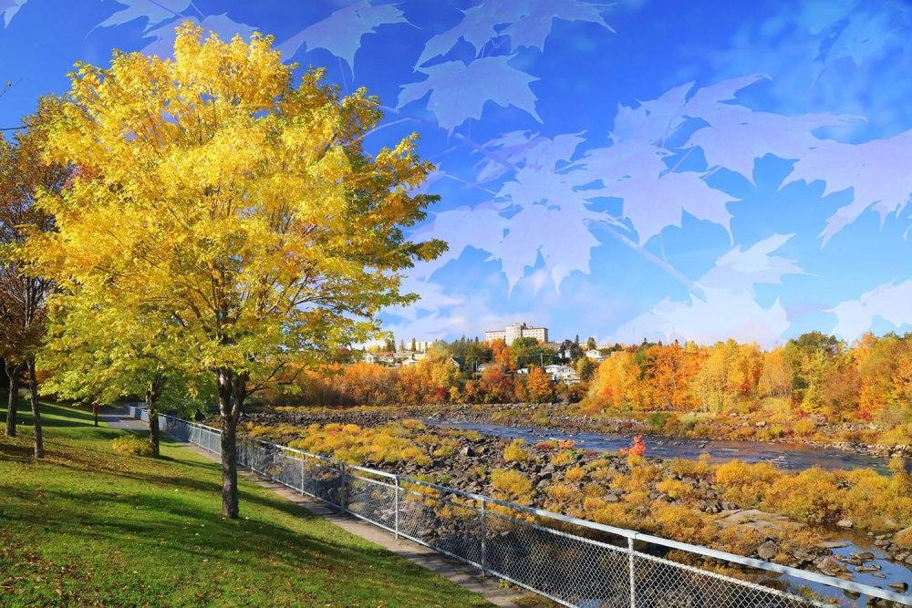 Saguenay River with Beautiful Autumn Colors